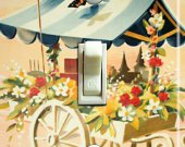 OSLO Fleurie Vintage Travel Poster Switch Plate (single)