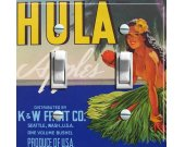 HULA Vintage Crate Label Switch Plate (double)