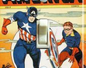 Captain America #57 Comic Switch Plate  (Single)