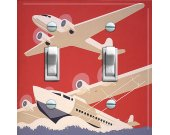 SEA PLANES vintage poster Switch Plate (double)
