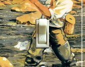 Fly FISH TRUCKEE Vintage Poster Switch Plate (single)