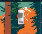 PACIFIC NORTHWEST Vintage Poster Switch Plate (single)