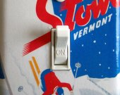 STOWE Vintage Ski Poster Switch Plate (single)