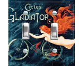 GLADIATOR Vintage Bike Poster Switch Plate (double)