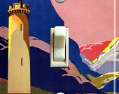 SCOTLAND Tower Vintage Travel Poster Switch Plate (single)