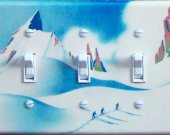CLUB ALPIN Vintage Ski Poster Switch Plate Tahoe or Trucke (triple)