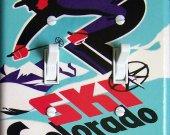 SKI COLORADO Vintage Ski Poster Switch Plate (double)