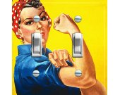ROSIE the RIVETER Switch Plate (double)