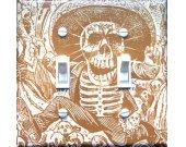 "Posada""s CALAVERA Vintage Art Switch Plate  (double)"