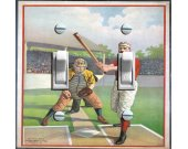 1895 Baseball  Home Plate Illustration (Double)