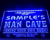 tm-51- Name Personalized Custom Man Cave Baseball Bar Beer Neon Sign hang sign home decor crafts