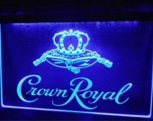 Crown Royal Derby Whiskey NR beer bar pub club 3d signs led neon light sign