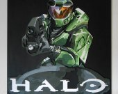 Handmade Halo: Combat Evolved wall hanging
