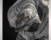 Handmade Arbiter, Halo portrait, Arbiter wall art