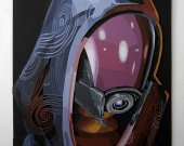 Handmade Tali Zorah wood art, Tali Zorah portrait