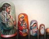 Easter- Nativity Nesting Doll /The thematic matryoshka (wooden doll/art doll) about Christ