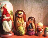 Easter- Nativity Nesting Doll /The thematic matryoshka (wooden doll/art doll) about Christ.