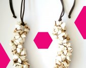 Handmade ivory beads from palm nut