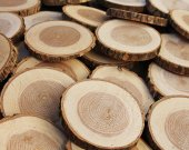 1000 pcs  2 inch  Bulk Wood Pine Slices, Bulk Tree slices