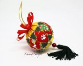 Christmas ornaments kimekomi ball. Fabric Xmas tree #kimekomi ball. Multicolour. Christmas gift