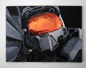 Handmade Halo 2, Halo 2 wall art, Halo 2 Master Chief portrait