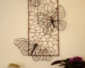 Butterfly wall decor - metal art - 3D sculpture- large painting modern - industrial-style art
