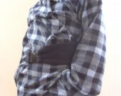 Belted Blue Jacket Autumn New Luxury Fashion  Loose Assymetric Coat Women