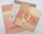 Gorgeous Baby Pink Indian Wedding Invitation