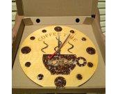 Wood Clock COFEE TIME.