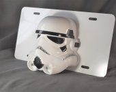 Star Wars Storm Trooper Custom 3D license plate