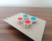 Quilling earrings, Paper earrings, handmade earrings, Paper jewellery, book earrings, set 2 pcs
