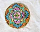Beautiful Blue, Green, Purple Mandala Flower Wall Hanging