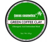 Green coffee clay mask - French green clay and coffee detox mask with chlorogenic acid powerful antioxidant