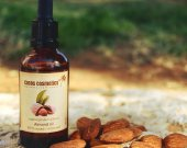 Pure almond oil - Unrefined organic sweet almond oil - Skincare and Massage - Baby care