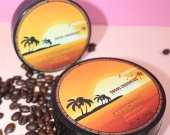 Coffee scrub, coconut coffee scrub hand made product by Cocos Cosmetics TM