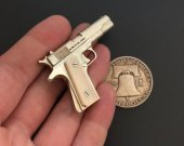 2mm pinfire gun Colt 1911 with bone grips