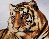 "The picture embroidered with a cross ""Tiger"""