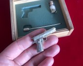2mm pinfire gun Colt 1911 Scale 1:6