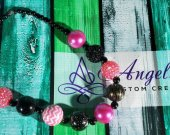 Pink and Black Bubblegum Necklace