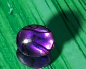 Deep Purple Paua Shell Sterling Silver Stud Earrings