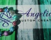 "Multicolored Stone Howlite Bracelet - 6 1/2"""