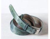 Original Mint Embossed Leather Belt