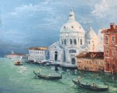 "Oil painting on canvas, cityscape ""Venice"""