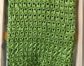 Shimmery Green Crochet Blanket