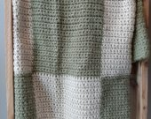 Green and Cream Checkered Blanket