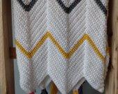 Modern Crochet Chevron Blanket