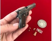 2mm centerfire gun Slide Colt 1911 Black Version Scale 1:3