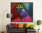 Flying carriage Abstract Painting