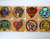 Handmade Bioshock Infinite Vigors coaster set