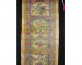 Coloured Palm Leaf Etching Wall Hanging of Dasavatar